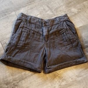DKNY brown cargo shorts size 4